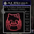 Angel Wing Kitty Decal Sticker Pink Vinyl Emblem 120x120