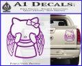Angel Wing Kitty Decal Sticker Purple Vinyl 120x97