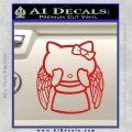 Angel Wing Kitty Decal Sticker Red Vinyl 120x120