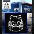 Angel Wing Kitty Decal Sticker White Emblem 120x120