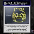Angel Wing Kitty Decal Sticker Yelllow Vinyl 120x120