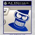 Angry Bender 3D Futurama Decal Sticker Blue Vinyl 120x120