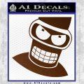 Angry Bender 3D Futurama Decal Sticker Brown Vinyl 120x120