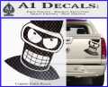 Angry Bender 3D Futurama Decal Sticker Carbon Fiber Black 120x97