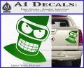 Angry Bender 3D Futurama Decal Sticker Green Vinyl 120x97