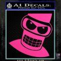Angry Bender 3D Futurama Decal Sticker Hot Pink Vinyl 120x120
