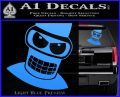 Angry Bender 3D Futurama Decal Sticker Light Blue Vinyl 120x97