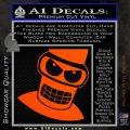 Angry Bender 3D Futurama Decal Sticker Orange Vinyl Emblem 120x120