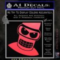 Angry Bender 3D Futurama Decal Sticker Pink Vinyl Emblem 120x120