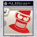 Angry Bender 3D Futurama Decal Sticker Red Vinyl 120x120