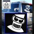 Angry Bender 3D Futurama Decal Sticker White Emblem 120x120