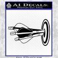 Archery Target Decal Sticker Bullseye Black Logo Emblem 120x120