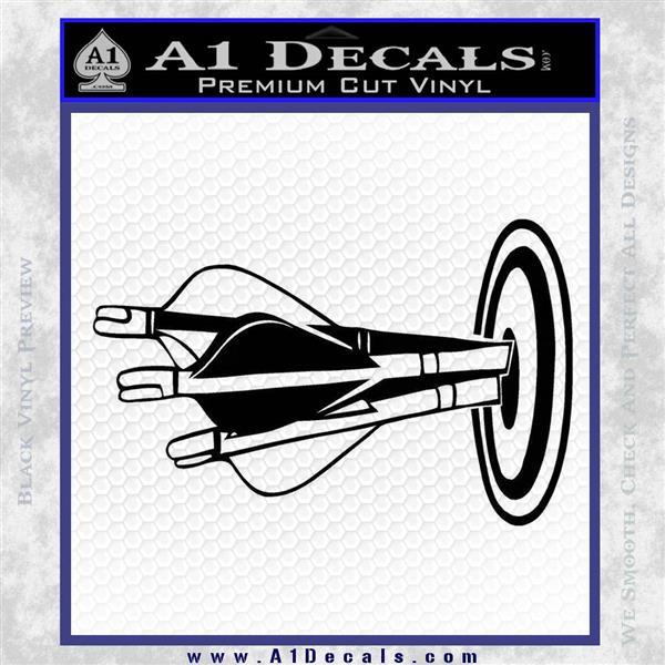 Archery Target Decal Sticker Bullseye Black Logo Emblem