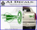 Archery Target Decal Sticker Bullseye Green Vinyl 120x97