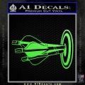 Archery Target Decal Sticker Bullseye Lime Green Vinyl 120x120