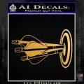 Archery Target Decal Sticker Bullseye Metallic Gold Vinyl Vinyl 120x120
