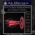 Archery Target Decal Sticker Bullseye Pink Vinyl Emblem 120x120