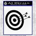 Archery Target Decal Sticker D2 Black Logo Emblem 120x120