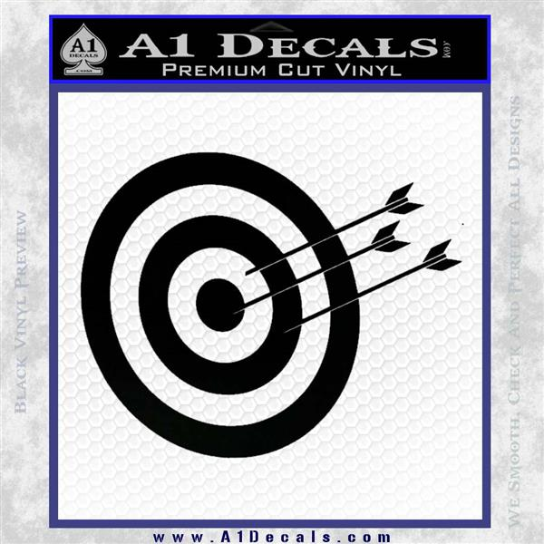 Archery Target Decal Sticker D2 Black Logo Emblem