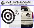 Archery Target Decal Sticker D2 Carbon Fiber Black 120x97