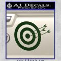 Archery Target Decal Sticker D2 Dark Green Vinyl 120x120