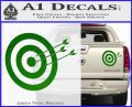 Archery Target Decal Sticker D2 Green Vinyl 120x97