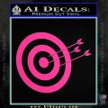 Archery Target Decal Sticker D2 Hot Pink Vinyl 120x120