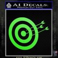 Archery Target Decal Sticker D2 Lime Green Vinyl 120x120