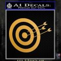 Archery Target Decal Sticker D2 Metallic Gold Vinyl Vinyl 120x120
