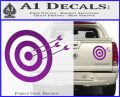 Archery Target Decal Sticker D2 Purple Vinyl 120x97