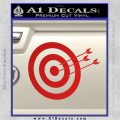 Archery Target Decal Sticker D2 Red Vinyl 120x120