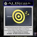 Archery Target Decal Sticker D2 Yelllow Vinyl 120x120