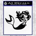Ariel Decal Sticker Cute Mermaid Black Vinyl Vinyl 120x120