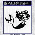 Ariel Decal Sticker Cute Mermaid Black Vinyl Vinyl 120x120