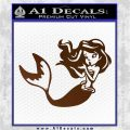 Ariel Decal Sticker Cute Mermaid Brown Vinyl Vinyl 120x120