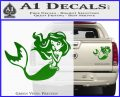 Ariel Decal Sticker Cute Mermaid Green Vinyl 120x97