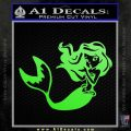 Ariel Decal Sticker Cute Mermaid Lime Green Vinyl Vinyl 120x120