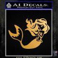 Ariel Decal Sticker Cute Mermaid Metallic Gold Vinyl Vinyl 120x120