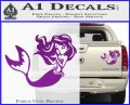 Ariel Decal Sticker Cute Mermaid Purple Vinyl 120x97
