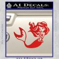 Ariel Decal Sticker Cute Mermaid Red Vinyl 120x120