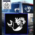 Ariel Decal Sticker Cute Mermaid White Emblem 120x120