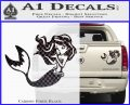 Ariel Decal Sticker Cute MermaidCarbon Fiber Black 120x97