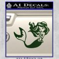 Ariel Decal Sticker Cute MermaidDark Green Vinyl Vinyl 120x120