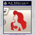 Ariel Wish Decal Sticker DZA Red Vinyl 120x120