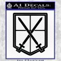 Attack on Titan SNK Anime Training Corps Decal Sticker Black Logo Emblem 120x120