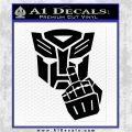 Autobot The FInger Decal Sticker Transformers Black Logo Emblem 120x120