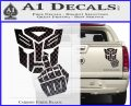 Autobot The FInger Decal Sticker Transformers Carbon Fiber Black 120x97