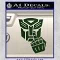 Autobot The FInger Decal Sticker Transformers Dark Green Vinyl 120x120