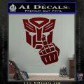 Autobot The FInger Decal Sticker Transformers Dark Red Vinyl 120x120