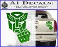 Autobot The FInger Decal Sticker Transformers Green Vinyl 120x97